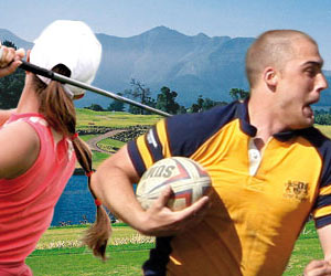Study a language and play a sport
